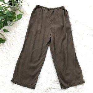 Gerties Olive Green Brown Wide Leg Culotte Pants